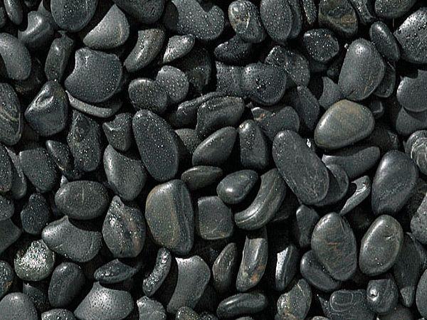 dark pebbles decorative stones